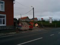 Travaux rue de Couthuin à Landenne