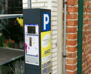 Le parking payant à Andenne