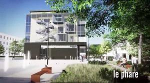 Bâtiment dit « Le Phare » − Revitalisation du centre-ville d'Andenne