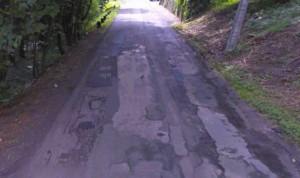 La rue de la Trichenne à Bonneville en piteux état