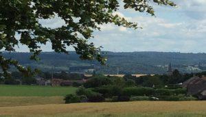 Vue de la vallée depuis Landenne au niveau de la potale Sainte-Marie