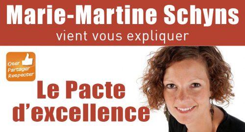 Marie-Martine Schyns vient vous expliquer le Pacte d'excellence